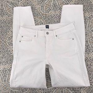 Gap White True Skinny High Rise Jeans 30 Tall